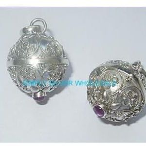 Angel callersprotection chimes angel caller pendant amethyst mozeypictures Choice Image
