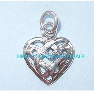 Celtic Heart Charm / Pendant