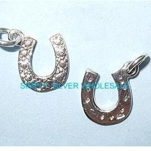 Horseshoe Charm / Pendant (Double-sided)