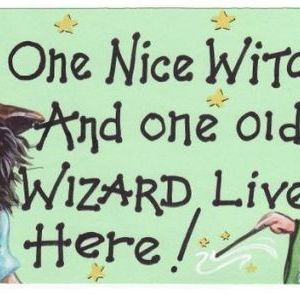 One Nice Witch and One Old Wizard Live Here