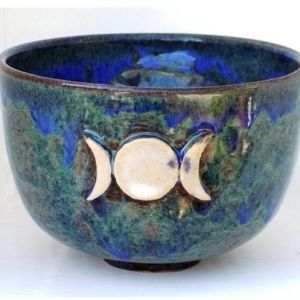 Triple Moon Altar Bowl
