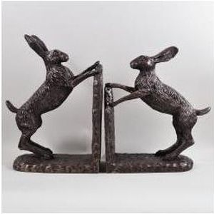 Boxing Hare Bookends (Bramble & Foxglove)