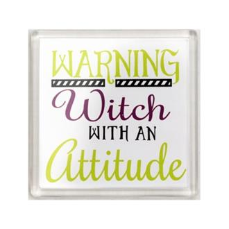 Witch with an Attitude Coaster