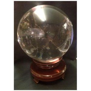 Crystal Ball with Rotating Stand - Large