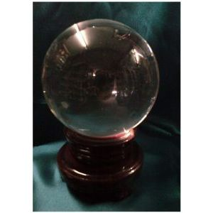 Crystal Ball with Rotating Stand