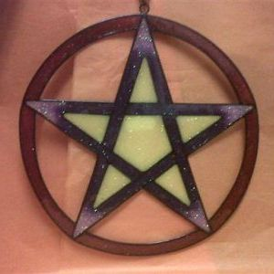 Encircled Pentagram Sun & Light Catcher