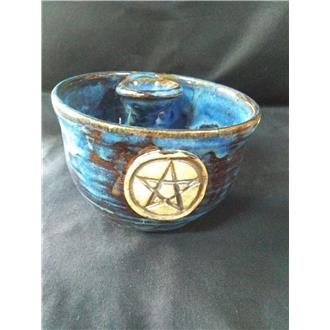 Blue Altar Bowl with Inset