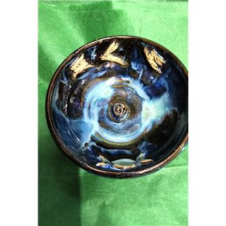 Hares and Triple Moon Incense Dish