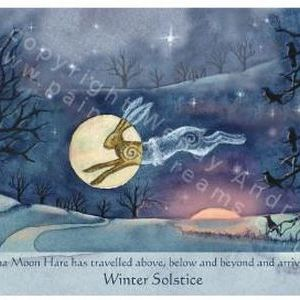 Luna Moon Hare at Winter Solstice - SOLD OUT