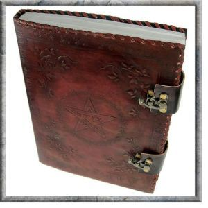 Leather Bound Book of Shadows with Swivel Locks (Large)