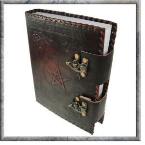 Leather Bound Book of Shadows with Swivel Locks (Medium)