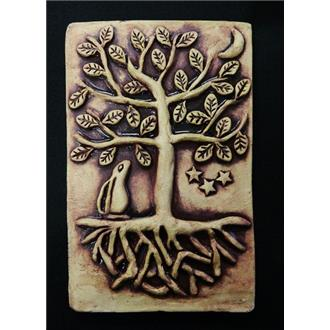 Tree of Life and Hare Plaque