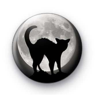 Cat and Moon Badge