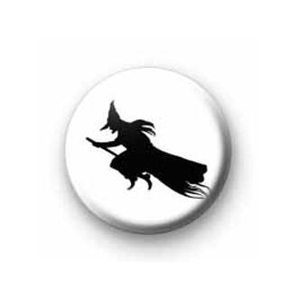 Witch on Broom Badge