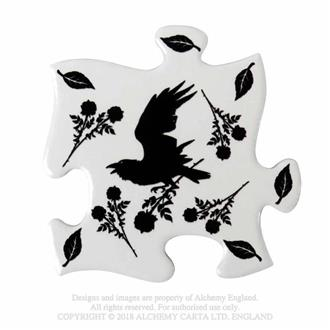 Raven and Rose Jigsaw Coasters