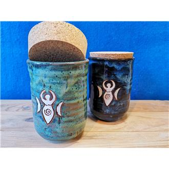 Ceramic Goddess Storage Jar