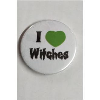 I Love Witches Badge