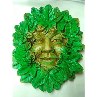 Large Summer Green Man Wall Plaque
