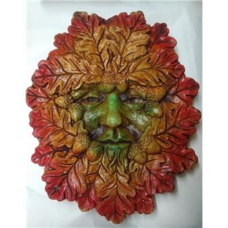 Large Autumn Green Man Plaque - SOLD