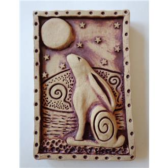 Moon Gazing Hare Plaque (2)