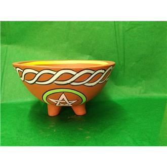 Pentagram Terracotta Smudge Bowl