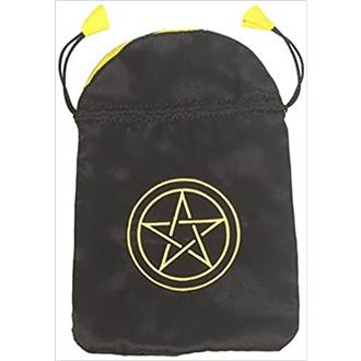 Black Satin Tarot Bag with Pentacle