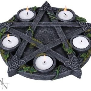 Wiccan Pentagram Tea-Light Holder