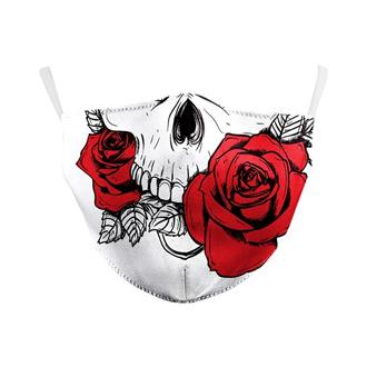 Roses and Skull Re-Usable Face Mask