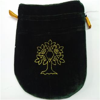Tree and Hexagram Draw String Pouch