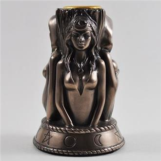 Triple Goddess Candle Holder