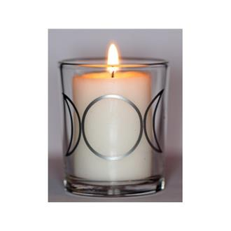 Triple Moon Glass Votive Holder