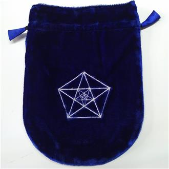 Triple Pentagram Draw String Pouch