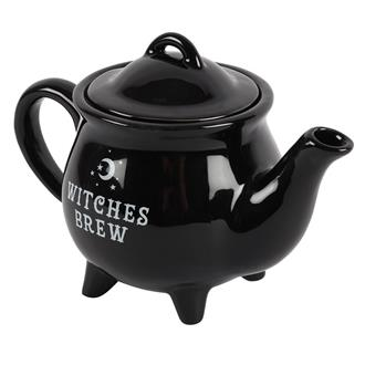 Witches' Brew Black Ceramic Tea Pot