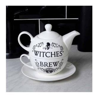 Witches' Brew Teapot and Cup and Saucer